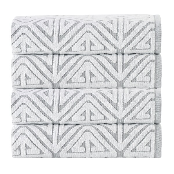 Glamour 100% Cotton Towel (Set of 4) by Enchante Home